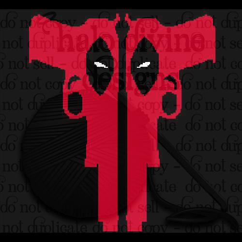 Crochet Deadpool guns graph for graphgan