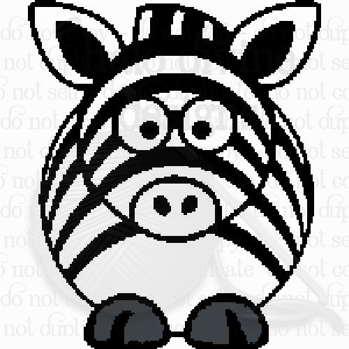 Crochet Chubby Zebra Graph