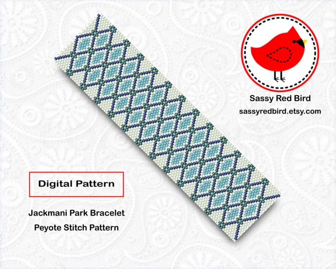 Peyote Stitch - Jackmani Park Bracelet Pattern