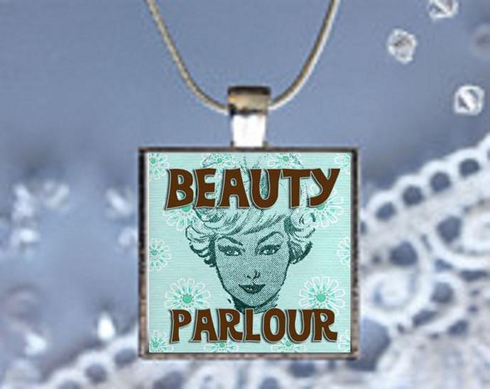 Pendant Neclace 50's Nostalgia, Beauty Parlour