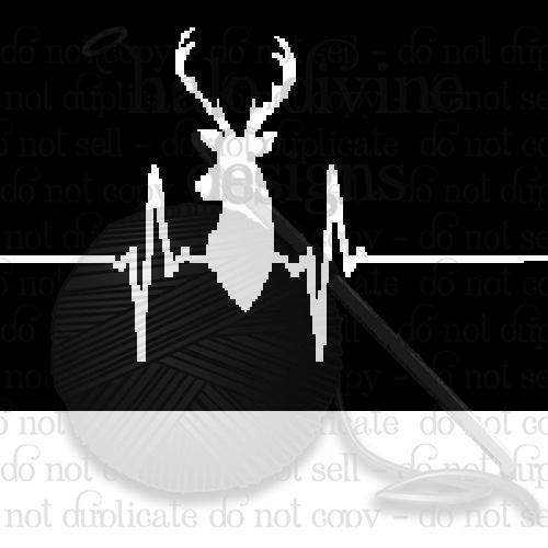 Crochet Heart Beat with Deer Graph