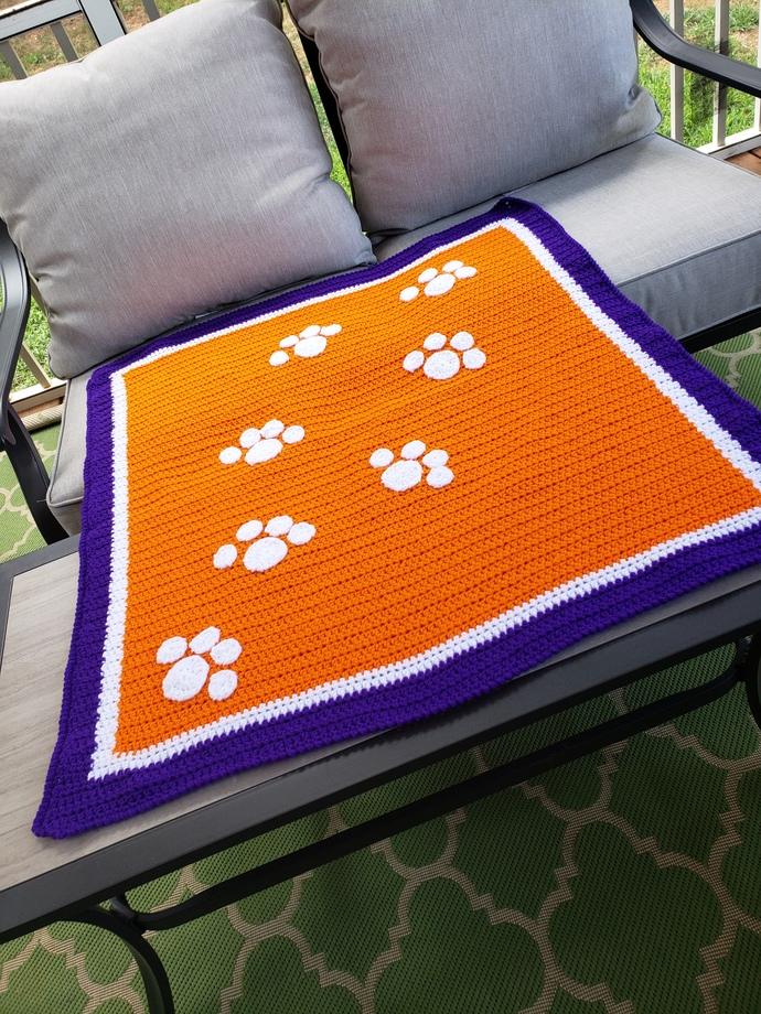 Clemson baby blanket