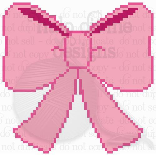 Crochet Pretty Pink Bow Graph