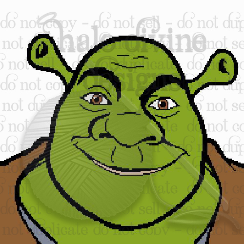 Crochet Shrek Graph