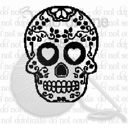 Crochet Sugar Skull Graph
