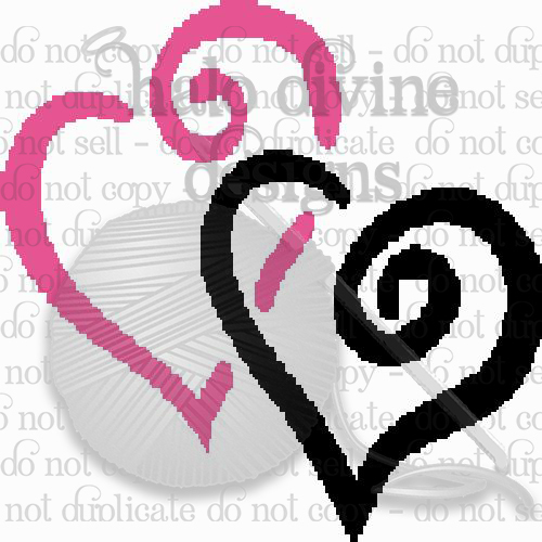Crochet Two Hearts Graph