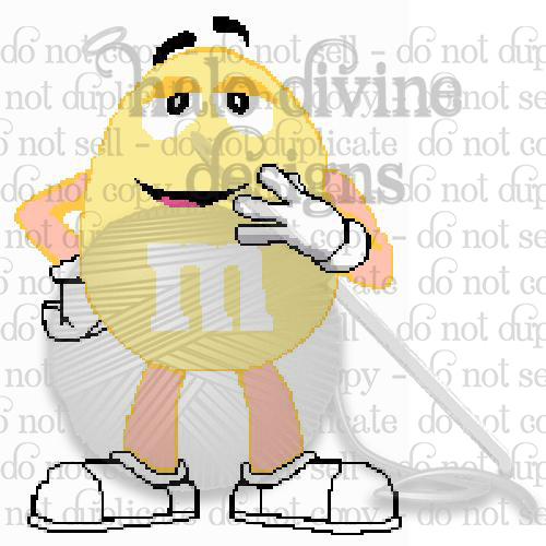 Crochet Yellow M&M Graph