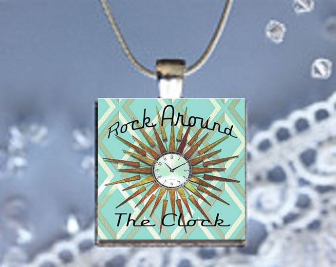 Pendant Necklace 50's Nostalgia, Rock Around the Clock
