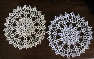 New Handmade Crocheted Cotton Doily for sale
