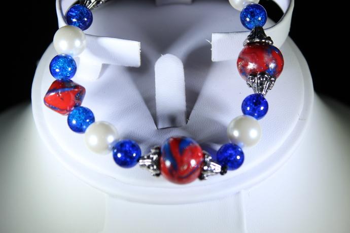 Stretch polymer clay bracelet  Free Shipping USA only