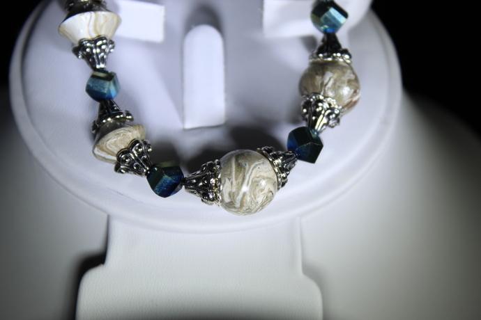 Stretch bracelet polymer clay. Free shipping USA only