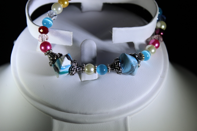 Multi-colored stretch bracelet free shipping USA only