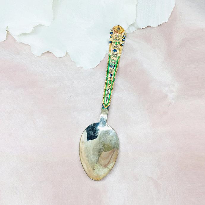 Topaz Sterling Silver Enamelled Spoon