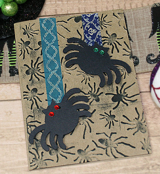 Spider Dual Halloween Greeting Card Comes with Envelope, Trick or Treat,