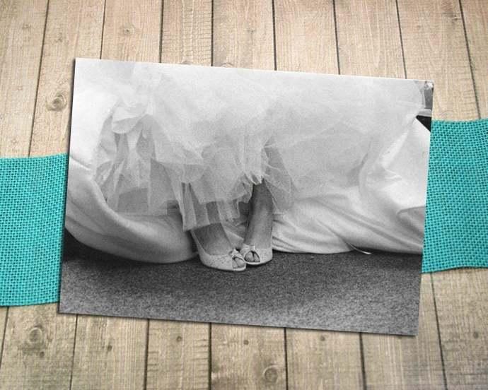 It's All About The Shoes Fine Art Photography Postcard, Wedding, Bride, Joy,