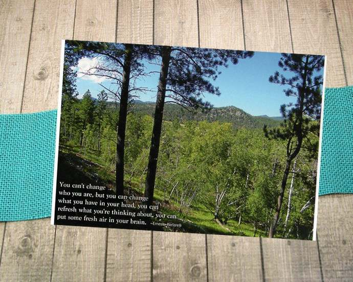 You Can't Change Who You Are Fine Art Photography Postcard, Mountains, Nature,