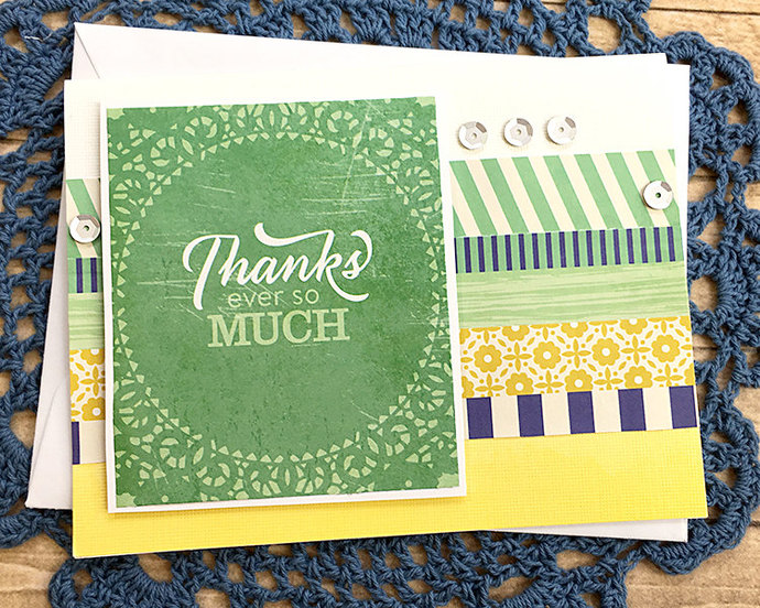Thanks Ever So Much Thank You Note, Patterns and Sequins, Gratitude, Grateful,