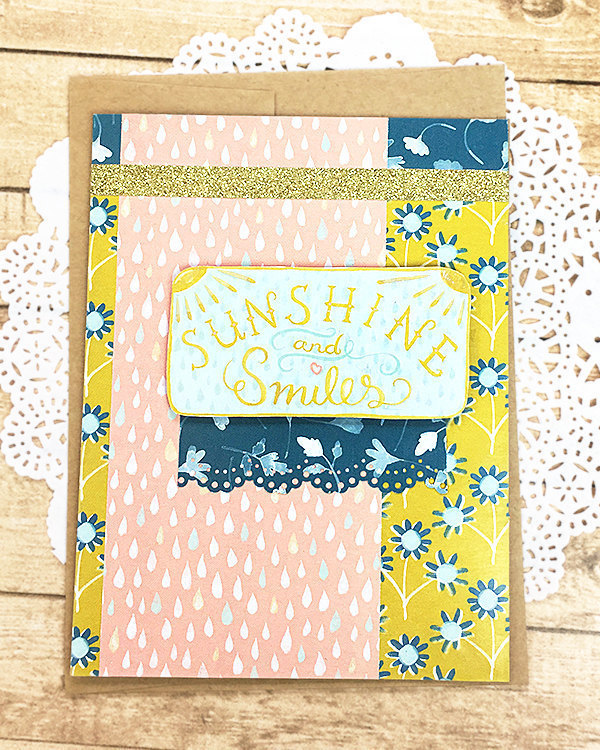 Sunshine & Smiles Greeting, Note Card, Cheer, Encouragement, Thinking of You,
