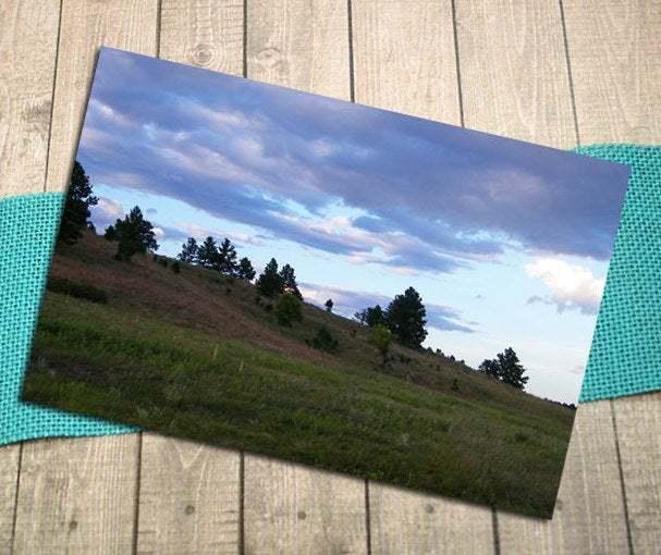 Black Hills Sunset Fine Art Postcard, Outdoors, Nature, South Dakota, Custer