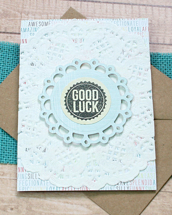 Good Luck Layered Greeting, Note Card, Moving, New Job, Bon Voyage, Promotion,