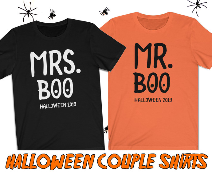 Halloween couple shirts - Halloween shirts - Husband and wife shirts - Mr and