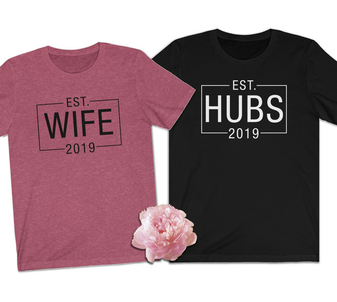 Mr and Mrs Shirts - Husband and wife shirts - Mr Mrs shirt - Personalized