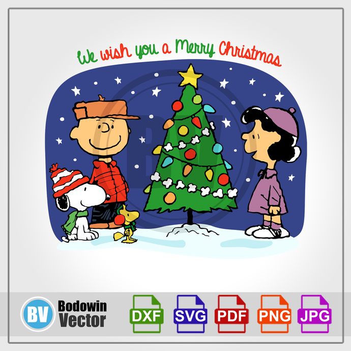 Peanuts Christmas SVG - Snoopy  / Instant Download / Digital Clipart / Cutting