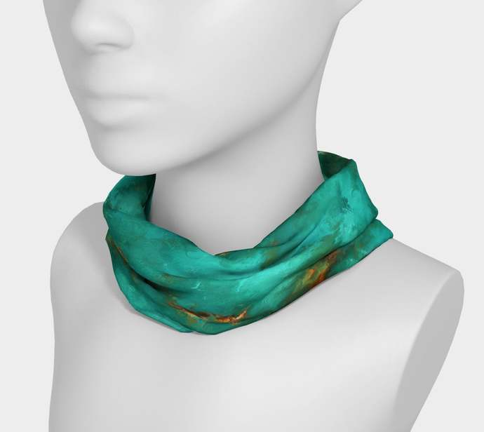 Royston Blue-Green Painted Headband