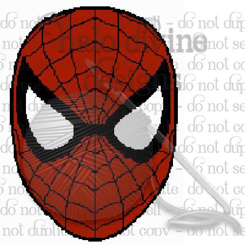 Crochet Spiderman Face Graph