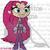 Crochet StarFire from Teen Titans GO Graph
