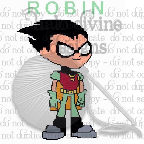 Crochet Robin from Teen Titans GO Graph