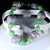 "Handmade polymer clay stretch bracelet multi-color size 6"" Free Shipping USA"