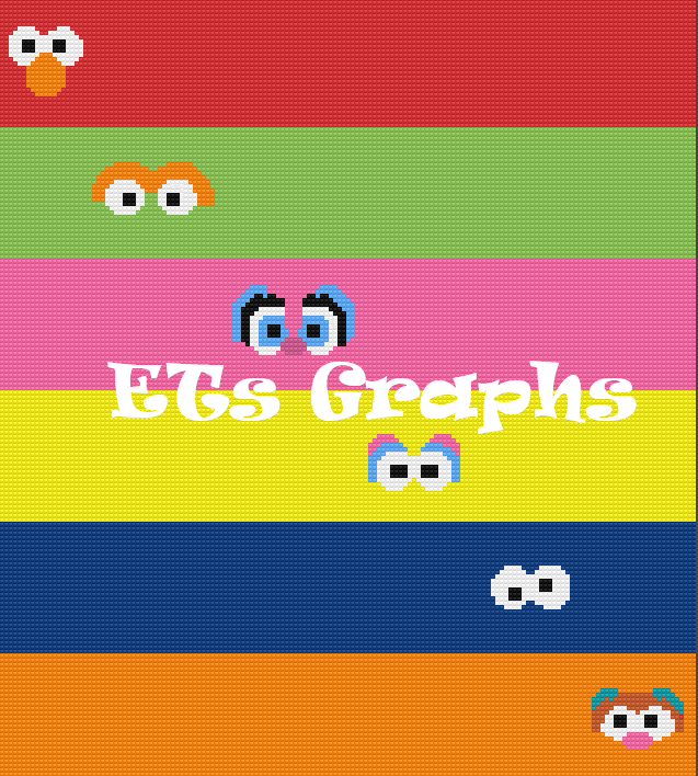 Sesame Pals SC 160x180 Toddler includes Graph with Written Color Blocks