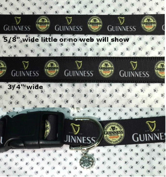 """Beer, Liquor, Alcohol, Stout beer, Guinness, party, 5/8"""" -  1"""" Dog or Cat"""