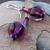 Purple Lampwork Dangle Earrings on Sterling Silver