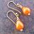 Little Orange Drops on Gold-filled Ear Wires