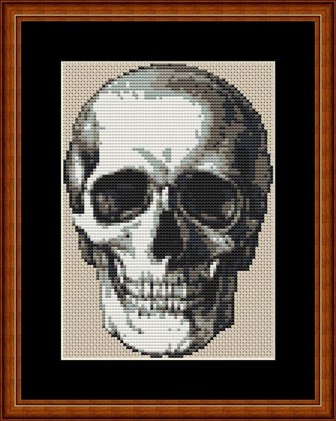 Halloween Skull cross stitch pattern