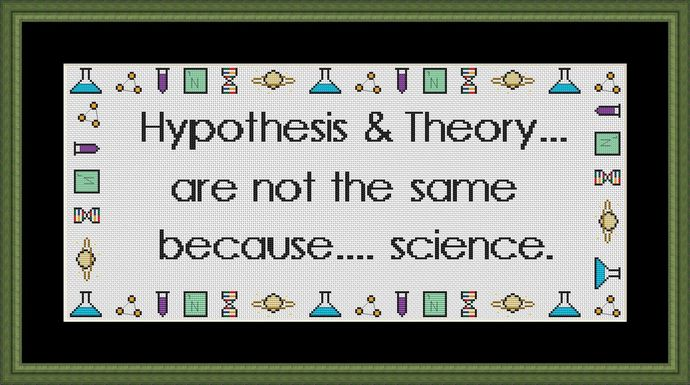 Hypothesis and Theory cross stitch pattern