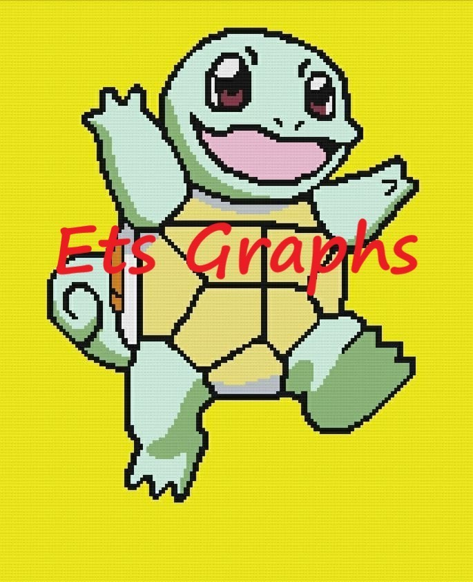 Pokemon - Squirtle SC 160x210 includes Graphs with written Color charts