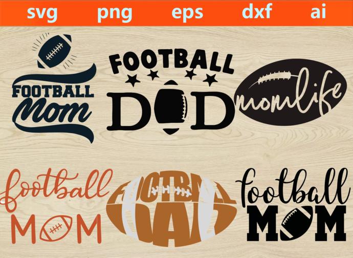 football svg, football png, football eps, football dxf, football ai, football