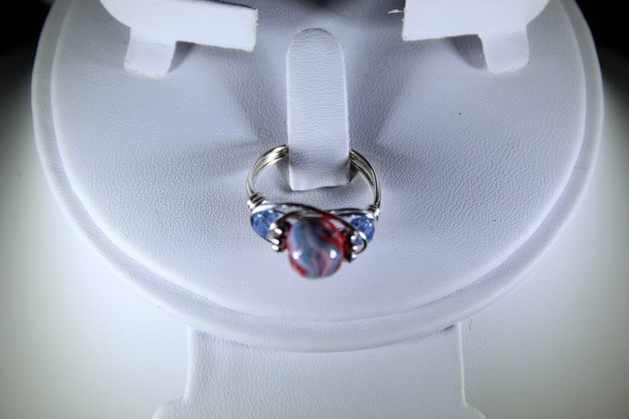Beautiful wire wrapped Ring Size 7 3/4 Free Shipping USA only