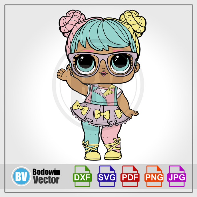 LOL Doll SVG - Bon Bon / Instant Download / Digital Clipart / Cutting Files /