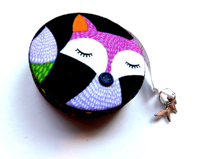 Tape Measure with Colorful Foxes Retractable Measuring Tape