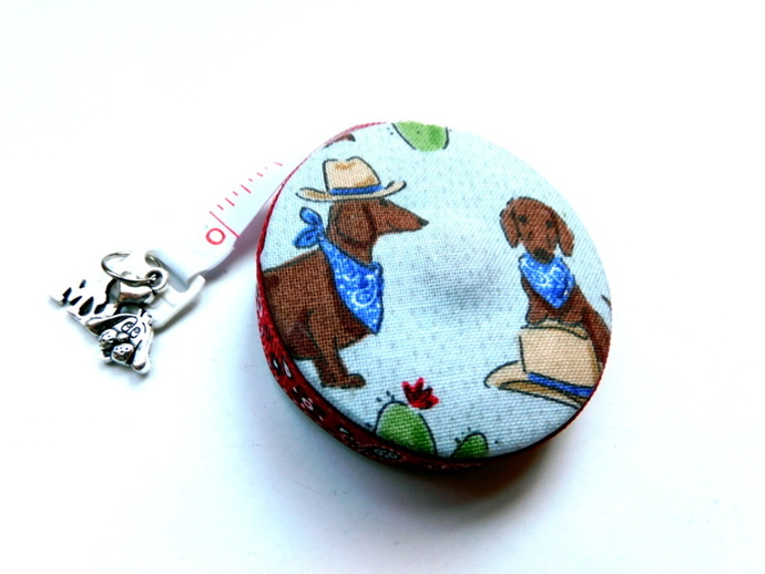 Measuring Tape Dachshunds Out West Small Retractable Tape Measure