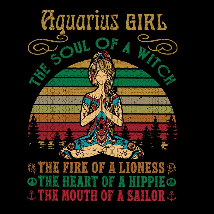 Aquarius Girl Svg Yoga Black Women Birthday By Digital4u On Zibbet