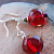 Sparkling Red Holiday Earrings on Sterling Silver