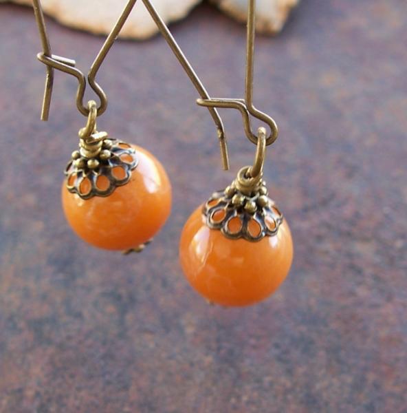 Creamy Caramel Long Drop Earrings