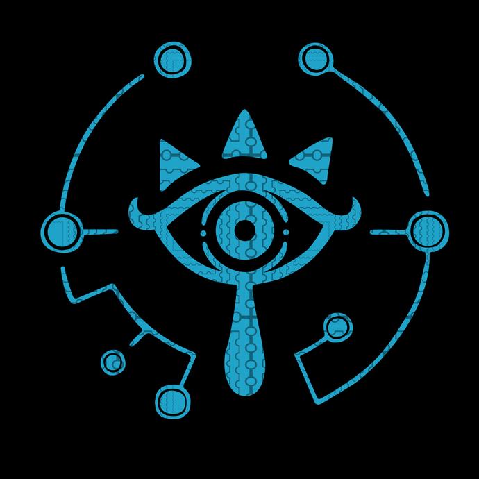 Zelda Breath Of The Wild Sheikah Eye Logo Graphic T-Shirt svg, Zelda Breath Of