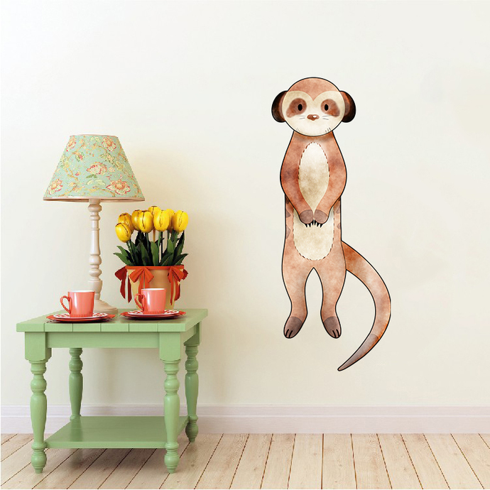 Meerkat - Suricata Suricatta - Safari Animals Series - Wall Decal - Great For