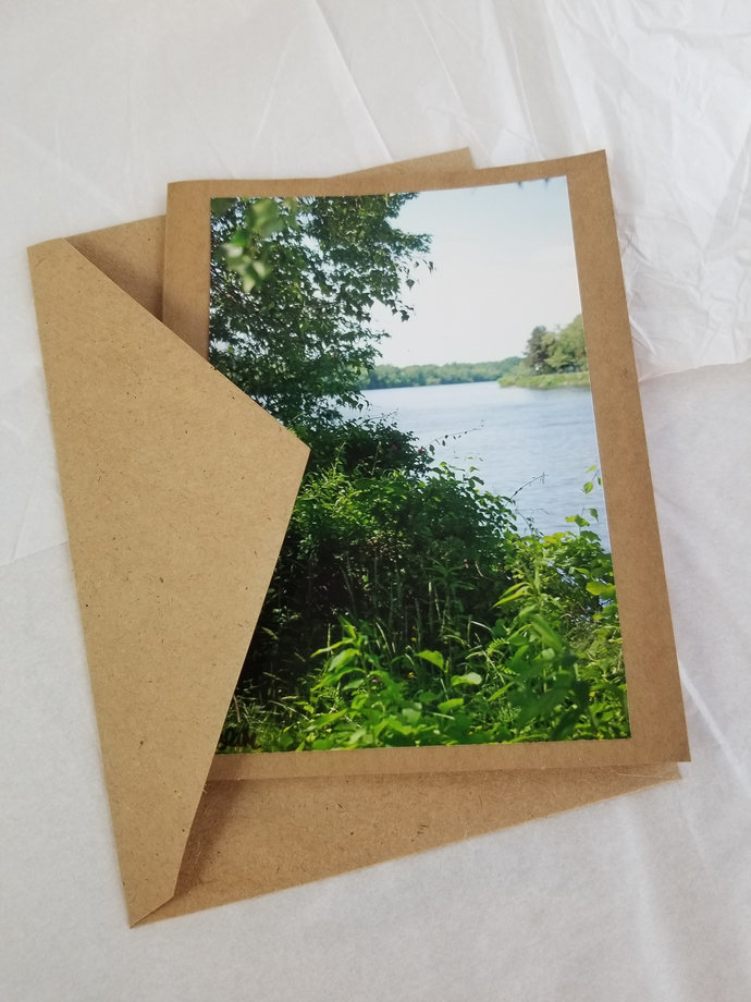 Greeting Card * Personalized Text * River * Photo Card * Blank Card